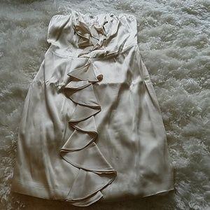 Silk, Ivory dress